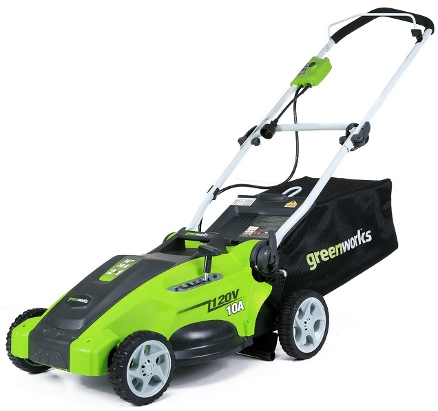GreenWorks 25142 10 Amp Lawn Mower - Electric Lawn Mowers Review