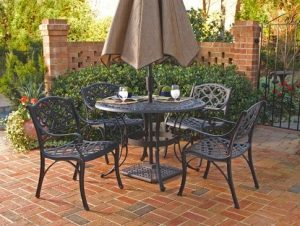 Home Styles 5554-328 Biscayne 5-Piece Outdoor Dining Set - Wrought iron patio furniture