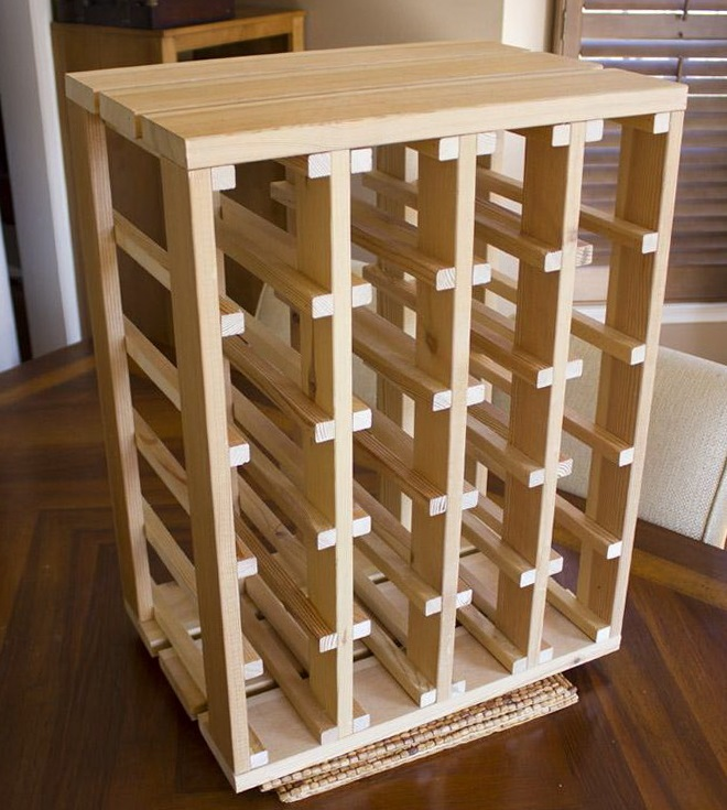 woodworking wine rack plans