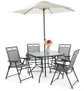 6 Piece Deluxe Outdoor Patio Dining Set
