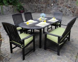 6-Piece Wood Patio Dining Set