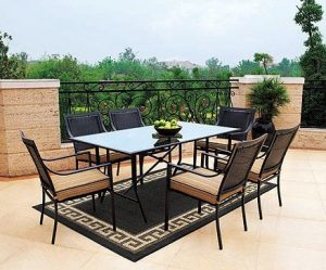 Braddock Heights 7 Piece Patio Dining Set, Seats 6