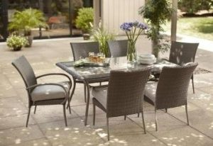 Hampton Bay Posada 7-Piece Decorative Outdoor Patio Dining Set