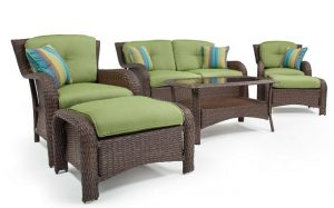 La-Z-Boy Outdoor 6 Piece Wicker Sawyer Deep Seating Set