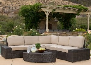 Reddington Outdoor Patio Furniture 6-Piece Sectional Sofa Set - Outdoor Seating Sets