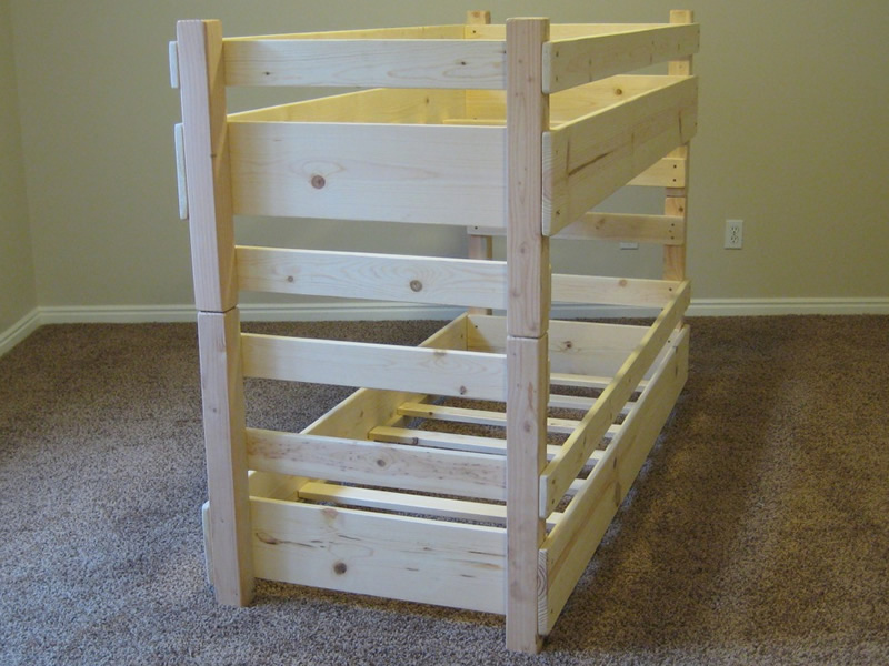 25 Diy Bunk Beds With Plans: The Fantastic Idea For Loft Bed Woodworking Plans